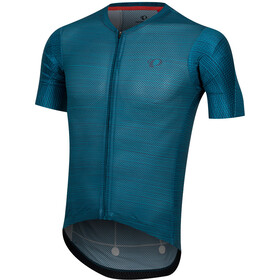 PEARL iZUMi P.R.O. Mesh Maillot Hombre, teal/ navy stripe
